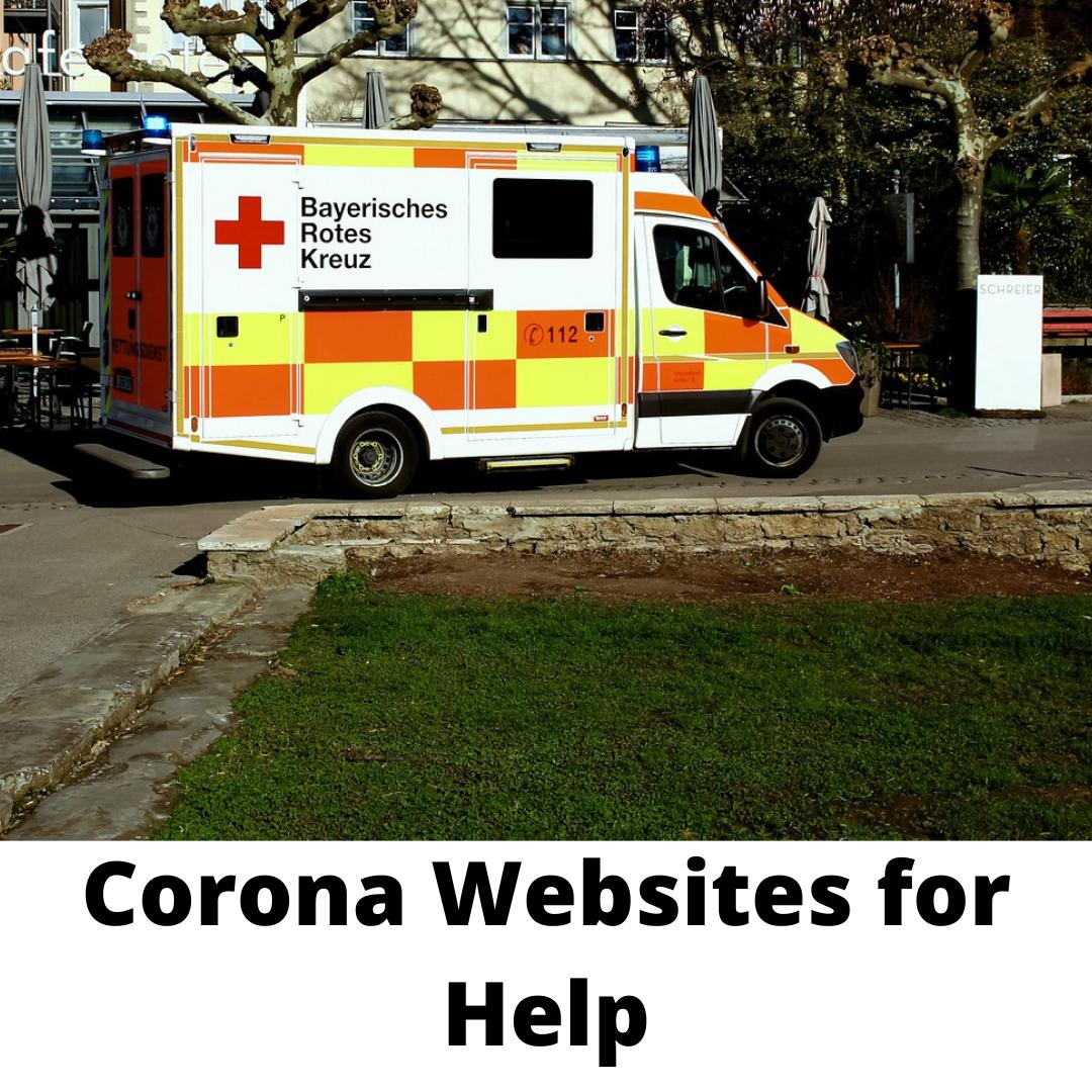 Corona Websites for Help